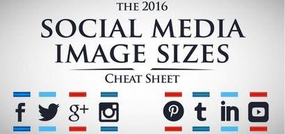 Le guide 2016 des dimensions des images sur les médias sociaux