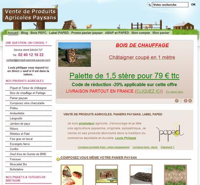 Témoignage de e-commerçant – Louis Philippe de la boutique Produit Agricole Paysan