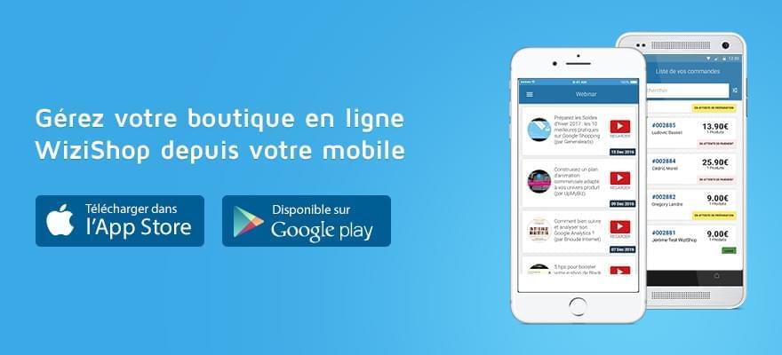 Découvrez l'application mobile WiziShop