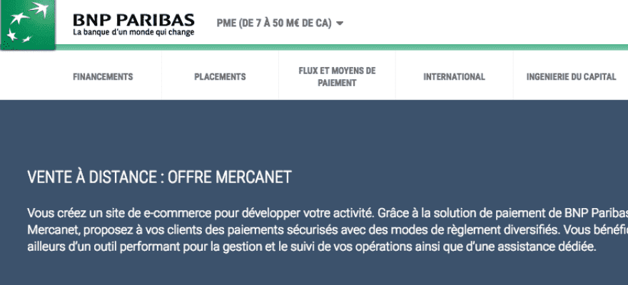 Nouvelle version de Mercanet