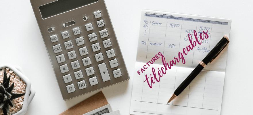 Factures téléchargeables sur le compte de vos clients