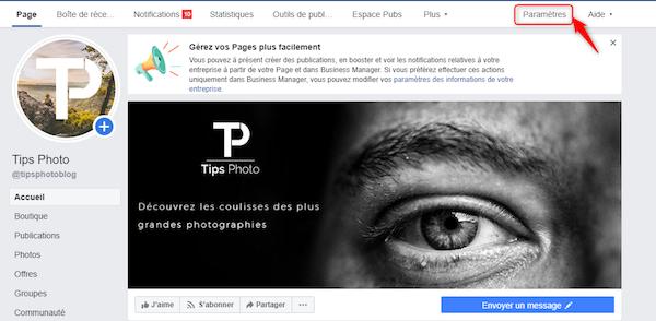 parametre-page-facebook
