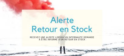 Recevez une alerte lorsqu'un visiteur demande à être prévenu d'un retour en stock